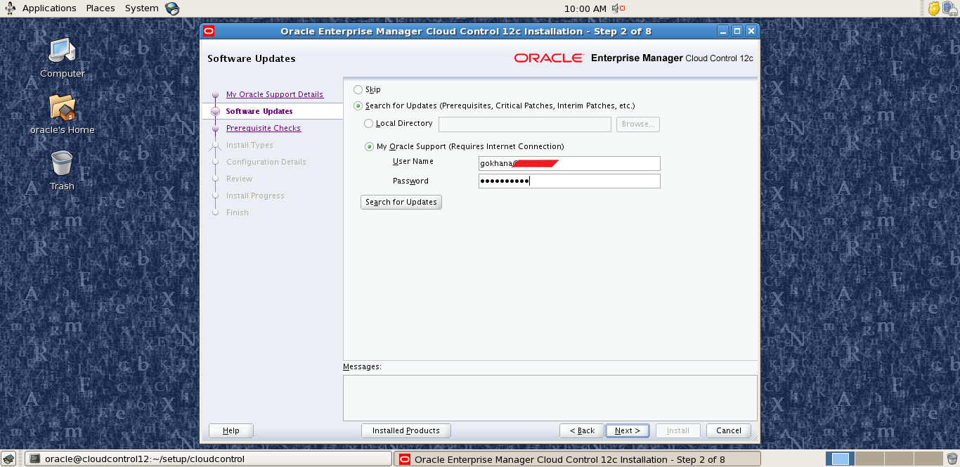 Oracle cloud control 12c prerequisites powershell