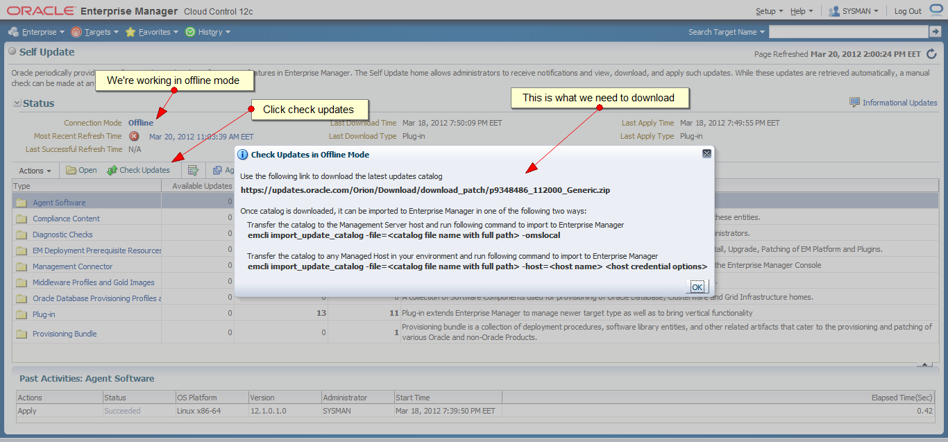 How to Download New Agent Software for Oracle Cloud Control