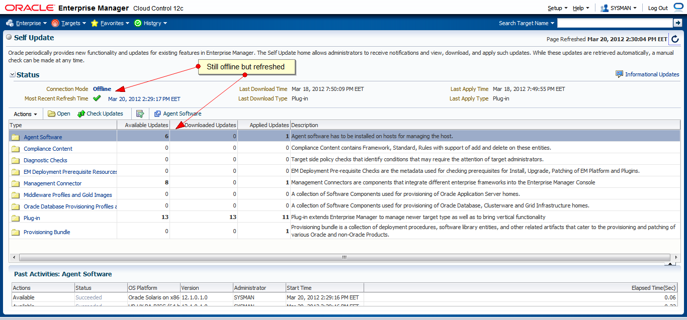 How to Download New Agent Software for Oracle Cloud Control 12c in