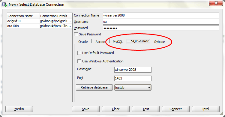 Configuring Oracle SQL Developer for Microsoft SQL Server and MySQL