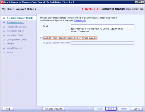 Oracle Support Details