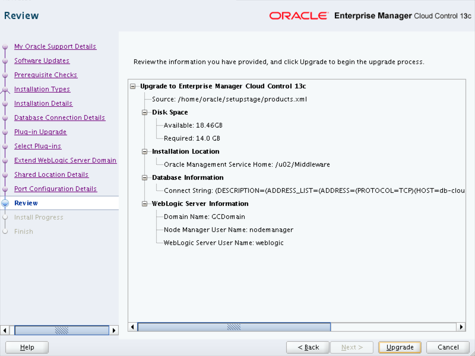 How to Upgrade Oracle Enterprise Manager Cloud Control 12c to EM13c