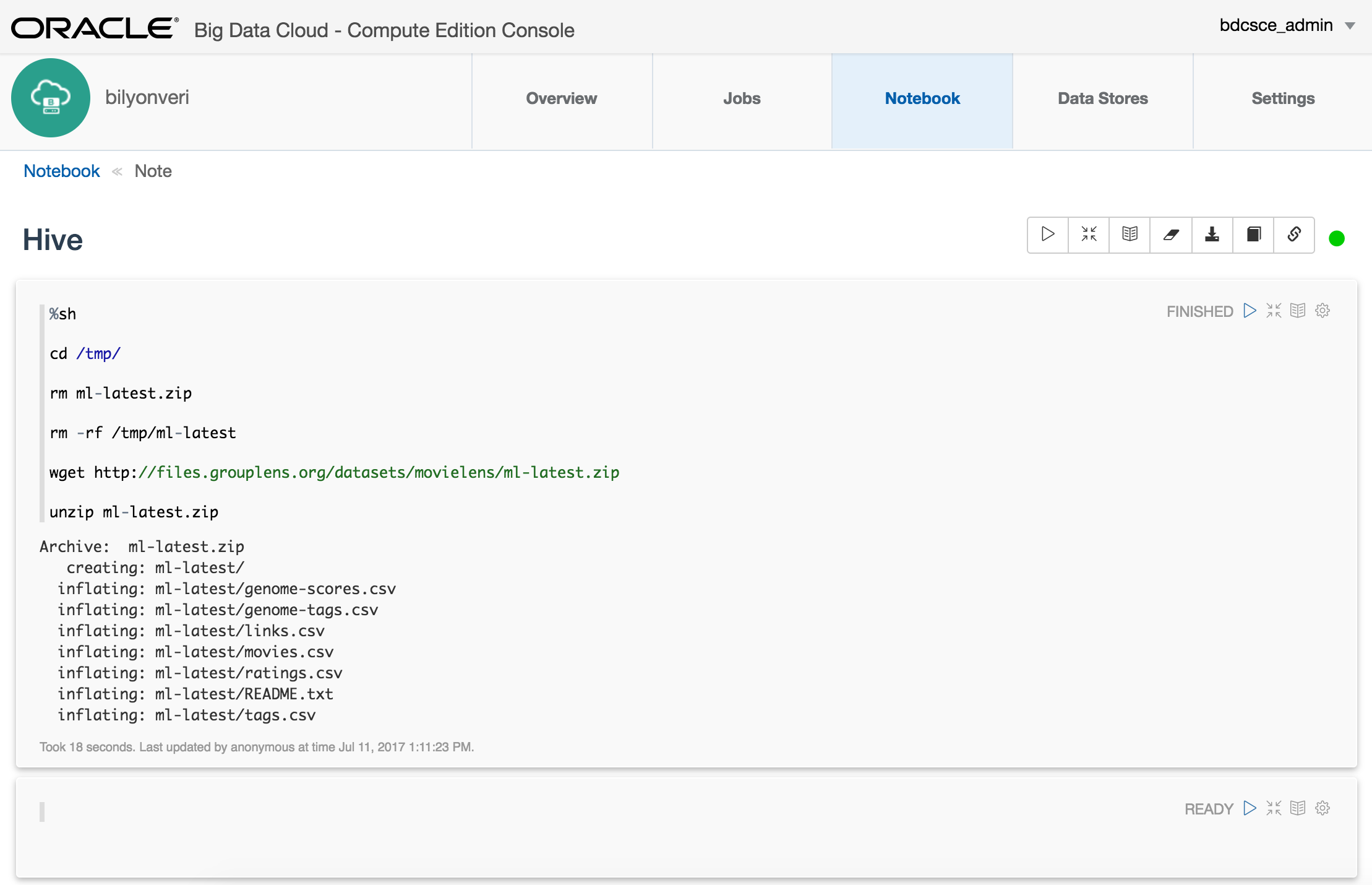 Introduction to Oracle Big Data Cloud Service – Compute